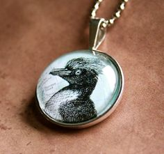 Cool off with a penguin pal:  silver penguin pendant necklace, by CrowBiz