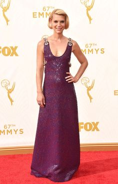 Claire Danes in a Prada dress and Cartier jewelry