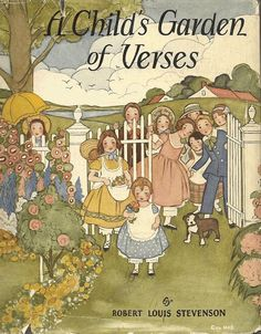 A Child 39 S Garden Of Verses By Rbt Louis Stevenson Eulalie Illustrations 1932 Hc Edition Vintage
