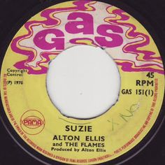 MAGICO ESTILO REGGAE: ALTON ELLIS & THE FLAMES-Suzie (1970) 7Inch  ALBUM...