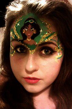 Princess Jasmine facepaint