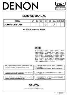 Denon AVR-2808 Service Manual Complete Procedural Writing, Electrical Wiring Diagram, Manual, Exploded View, Pdf, Windows, Places, Products, Log Projects