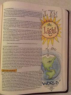 John 8:12. Sherrie Bronniman - Art Journaling: In My Bible