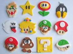 step by step mario characters fondant - Google Search