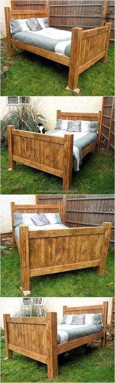 rustic look pallet bed