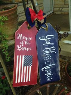 God Bless America Home of the Brave Wooden Door Tag Hanger God Bless America Home of the Brave Wooden Door Tag Hanger 4th July Crafts, Fourth Of July Decor, 4th Of July Decorations, Patriotic Crafts, July 4th, Americana Crafts, Pallet Crafts, Wooden Crafts, Diy And Crafts