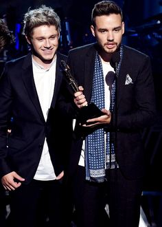 When they were accepting the award