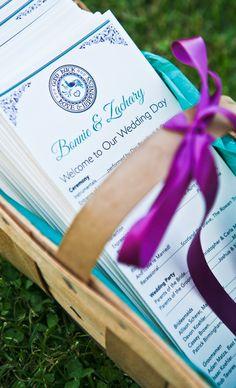 Purple & Turquoise PA Dutch Themed Programs (Courtesy Katzzmcd Designs)