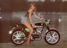 Me & My Zundapp - Damenschmuck und andere Motorbike Girl, Motorcycle Art, Lady Biker, Biker Girl, Vintage Bikes, Vintage Motorcycles, Moped Scooter, Bike Poster, Motor Scooters