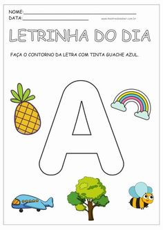 Preschool Writing, Preschool Learning Activities, Teaching Kids, Kids Learning, Toddler School, Pre School, Abc Phonics, Learn Portuguese, School Worksheets