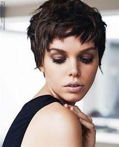 Classic pixie cut with easy styling