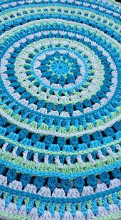 Ravelry: Mandala style place mats pattern by Kajsa Hubinette Crochet Mandala Pattern, Granny Square Crochet Pattern, Doily Patterns, Knitting Patterns, Crochet Patterns, Placemat Patterns, Crochet Scarf Easy, Crochet Yarn, Crochet Placemats