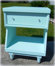 Upcycled Vintage Mid Century Modern Night Stand by LisasCraftiques, $200.00