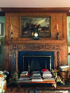 """My first post of the New Year is in honor of Marion Oates Charles, a legendary hostess and fixture of society in Newport and Washington D. since the """"Oatsie,""""… Home Library Decor, Home Library Design, House Design, Green Library, Marble House, English House, English Manor, American Houses, Treatment Rooms"""
