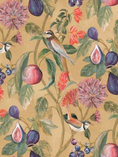 This wallpaper from the Aruba Collection by Holden Decor adds a stylish feel to your walls. Aruba is a stunning bird trail wallpaper, featuring floral and fruit elements, on a painterly matt background. This wallpaper is perfect to use as a feature wall or to decorate the entire room. The high quality wallpaper also benefits from being paste the wall, which means it is incredibly easy to apply and work with whilst decorating. It is also easy to remove at a later date.