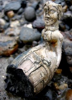 Silver lady found by Mudlarks along the Thames, estimated to be approximately 200 years old.