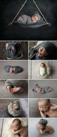 11 day old Owen and his grey themed studio newborn photo shoot. Sunny S-H Photography Winnipeg