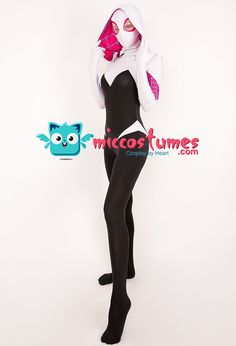 Superheroine Bodysuit Jumpsuit Cosplay Costume Zentai Inspired by Spider-Woman Gwen Stacy Female Superhero Make to Order Spider Gwen Cosplay, Jumpsuits For Sale, Cosplay Events, Female Superhero, Gwen Stacy, Costumes For Sale, Future Fashion, Halloween Outfits, Cosplay Costumes