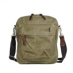 """""""Tommy sling"""" is an everyday bag for guys who carry a few things and want them to be packed stylish, made out of waxed cotton canvas and leather (€168,-)"""