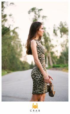 Vestido Lápis Reversível leopardo e florido
