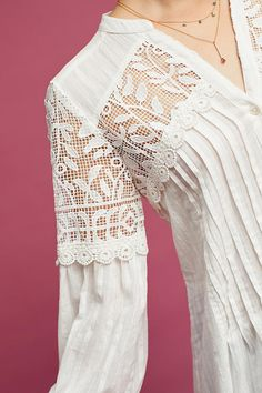 Slide View: 3: Pintucked Lace Tunic