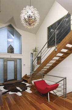 modern and sophisticated entryway