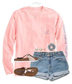 """""""•beauty and the beast was amazing•"""" by southernprep3 ❤ liked on Polyvore featuring Vineyard Vines, Birkenstock, Natasha, Kendra Scott and Honora"""