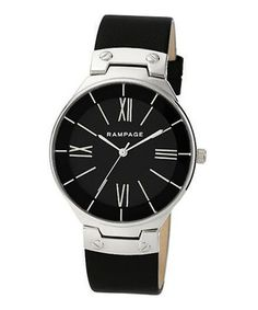 3ff61dcfa6d Look at this  zulilyfind! Silver  amp  Black Strap Watch  zulilyfinds  Sophisticated Style