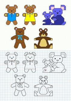 Cornicette per bambini a quadretti orsi