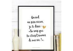 Affichez votre amour avec des mots doux.  #Affiche #love #citation