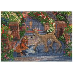 """Disney Dreams Collection By Thomas Kinkade Lady&The Tramp-7""""X5"""""""
