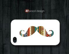 mustache case iphone case Hard case Rubber case by Atwoodting, $6.99