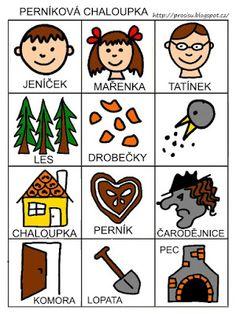 Pro Šíšu: Pracovní listy POZNÁNÍ Hansel Y Gretel, Stories For Kids, Teaching English, Preschool, Playing Cards, Classroom, Games, Children, Note Cards