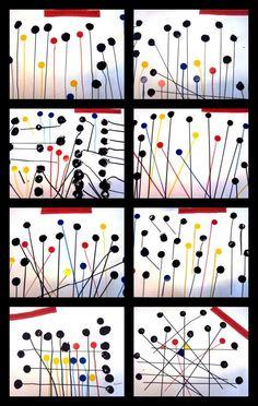 Artwork inspired by Calder Alexander Calder, Arte Elemental, Kindergarten Art Lessons, Art Education Lessons, Primary Education, 30 Day Art Challenge, Ecole Art, Math Art, Art Graphique