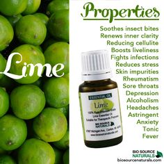 Lime essential oil is great to have around the house! Loads of natural properties.
