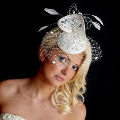 Juliet Bridal Wedding Fascinator by JayneAlisonMillinery on Etsy, £145.00