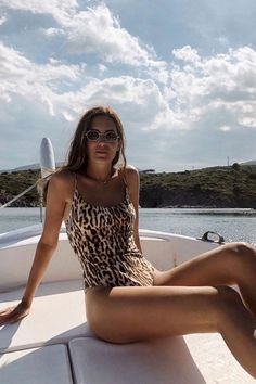 See and Shop the Animal-Print Swimsuit Trend Animal Print Swimsuit, Animal Print Swimming Costume, Leopard Print Bikini, Cheetah, Vetement Fashion, Trendy Swimwear, Summer Fashion Trends, Beachwear For Women, The Bikini