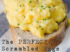 The Perfect Scrambled Eggs Recipe - COOKSNAPEATLOVE | COOKSNAPEATLOVE