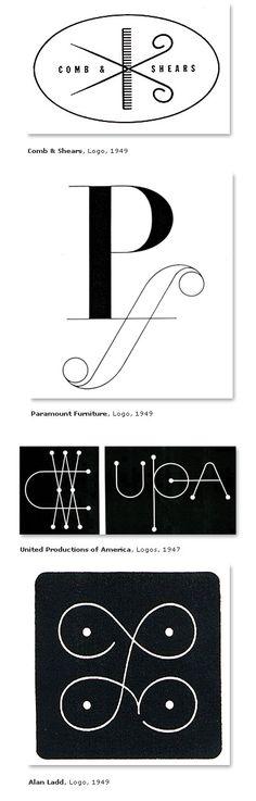 Classic Alvin Lustig Logos