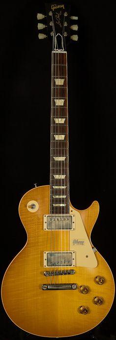 Gibson Custom Shop 2019 Historic Collection 1958 Les Paul Standard Lemon Burst 8.89 lbs. Les Paul Standard, Guitar Art, Cool Guitar, Les Paul Guitars, Gibson Guitars, Gibson Les Paul, Acoustic Guitars, Electric Guitars, Madness