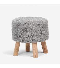 Crafted from Acacia wood with a wool knitted design this handmade stool is a wonderful addition to your living room. Picture Tag, Acacia Wood, Knitting Designs, Foot Rest, Accent Pieces, Living Room Furniture, Beige, Grey, Dining Chairs