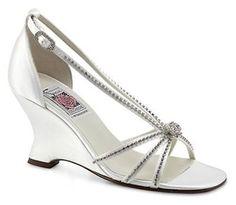 6ba0923728b Bridal Shoes 105471  Special Occasions Lily Ann White Satin Wedding Bridal  Shoes Rhinestones Sz 6.5