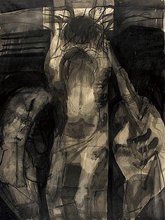 """Rico Lebrun - """"Crucifixion"""" 1960.  Rico Lebrun era un nacido en Italia, pintor y escultor italo-americana Nacido: 10 de diciembre de 1900, Nápoles Murió: 09 de mayo 1964"""