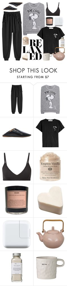 """""""PJs All Day: Lovely Loungewear"""" by cherieaustin ❤ liked on Polyvore featuring Simone Rocha, Princess Goes Hollywood, Acne Studios, rag & bone, Helmut Lang, Boy Smells, Tokyo Design Studio, Très Pure, Bloomingville and LovelyLoungewear"""