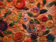 Gabriele Wall - Quilt with embroidery