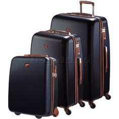 Jump Nice Hardside Suitcase Set of 3 Navy J6553, J6551, J6552 with FREE Go Travel Luggage G2008