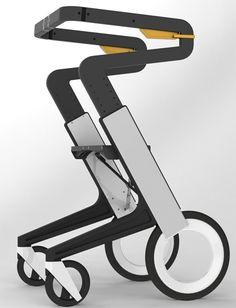 Potential Energy Walker stylish and personal mobility solution. Designer Benjamin Carr.  Concept design.