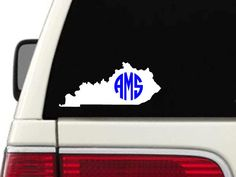 Hey, I found this really awesome Etsy listing at https://www.etsy.com/listing/176884309/kentucky-monogram-decal