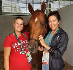 4 August 2016 - Visiting the Danish Equestrian Team in Rio