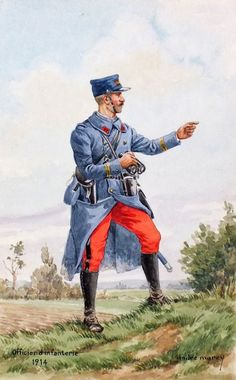 French; Infantry Lieutenant, 1914 by André Marcy
